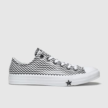 Converse White & Black All Star Mission V Ox Womens Trainers