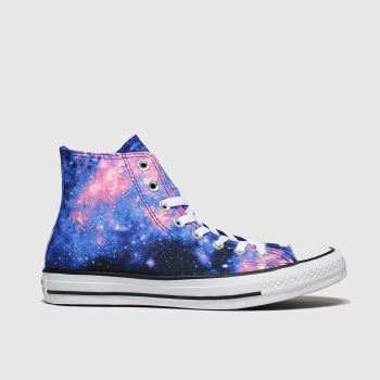 Converse Black and blue All Star Miss Galaxy Hi Womens Trainers