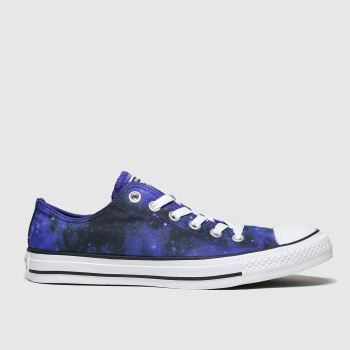 Converse Black and blue All Star Miss Galaxy Ox Womens Trainers