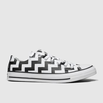 Converse White & Black All Star Glam Dunk Ox Womens Trainers