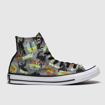 Converse Black & Green All Star Hi Mystery Machine Womens Trainers#