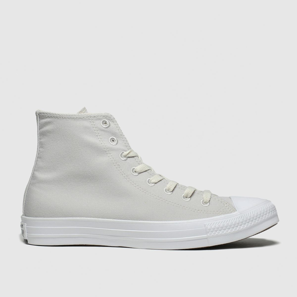 Converse Light Grey Chuck Taylor All Star Renew Hi Trainers