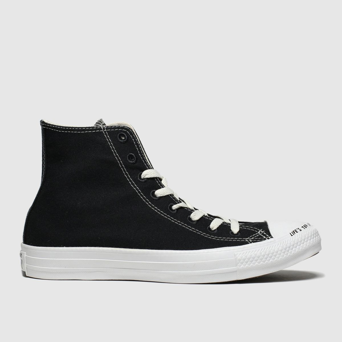 Converse Black & White Chuck Taylor All Star Renew Hi Trainers