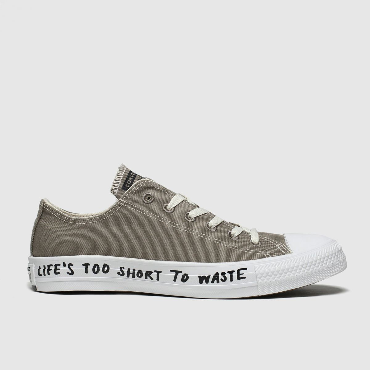 Converse Grey Chuck Taylor All Star Renew Ox Trainers