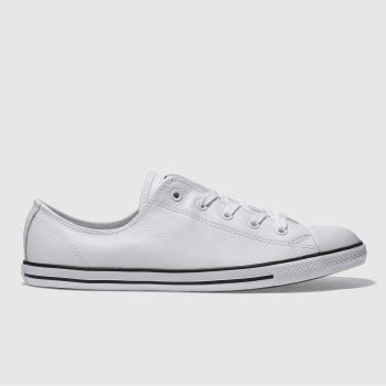 Converse White All Star Dainty Leather Womens Trainers