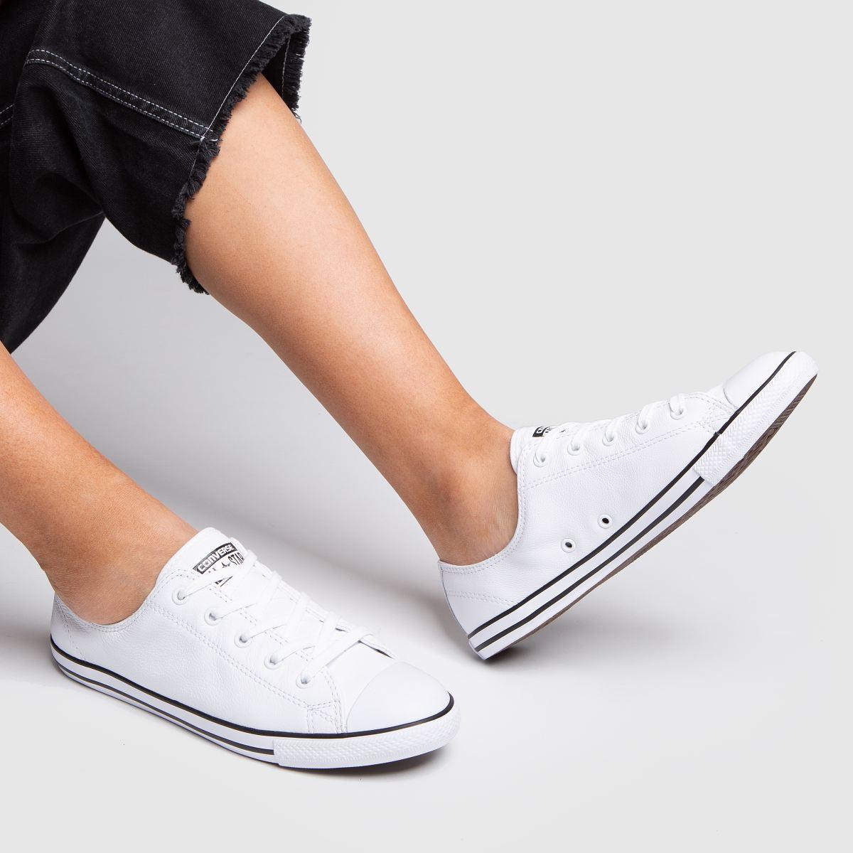 Damen Weiß converse All Star Dainty Gute Leather Sneaker   schuh Gute Dainty Qualität beliebte Schuhe bbd4eb