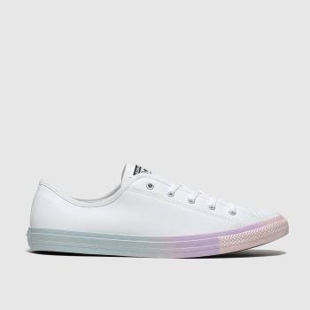 Converse White & Blue All Star Dainty Womens Trainers