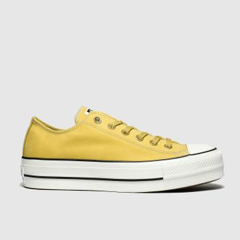 Converse Yellow Chuck Taylor All Star Lift Ox Womens Trainers