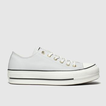 Converse Light Grey Chuck Taylor All Star Lift Ox Womens Trainers