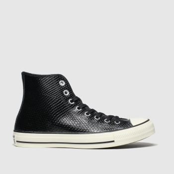 Converse Black & White All Star Metallic Snake Hi c2namevalue::Womens Trainers