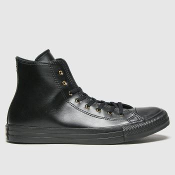 Converse Black & Gold Hi Craft Womens Trainers