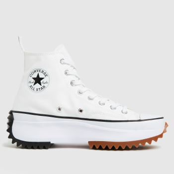 Converse White & Black Run Star Hike Hi Womens Trainers
