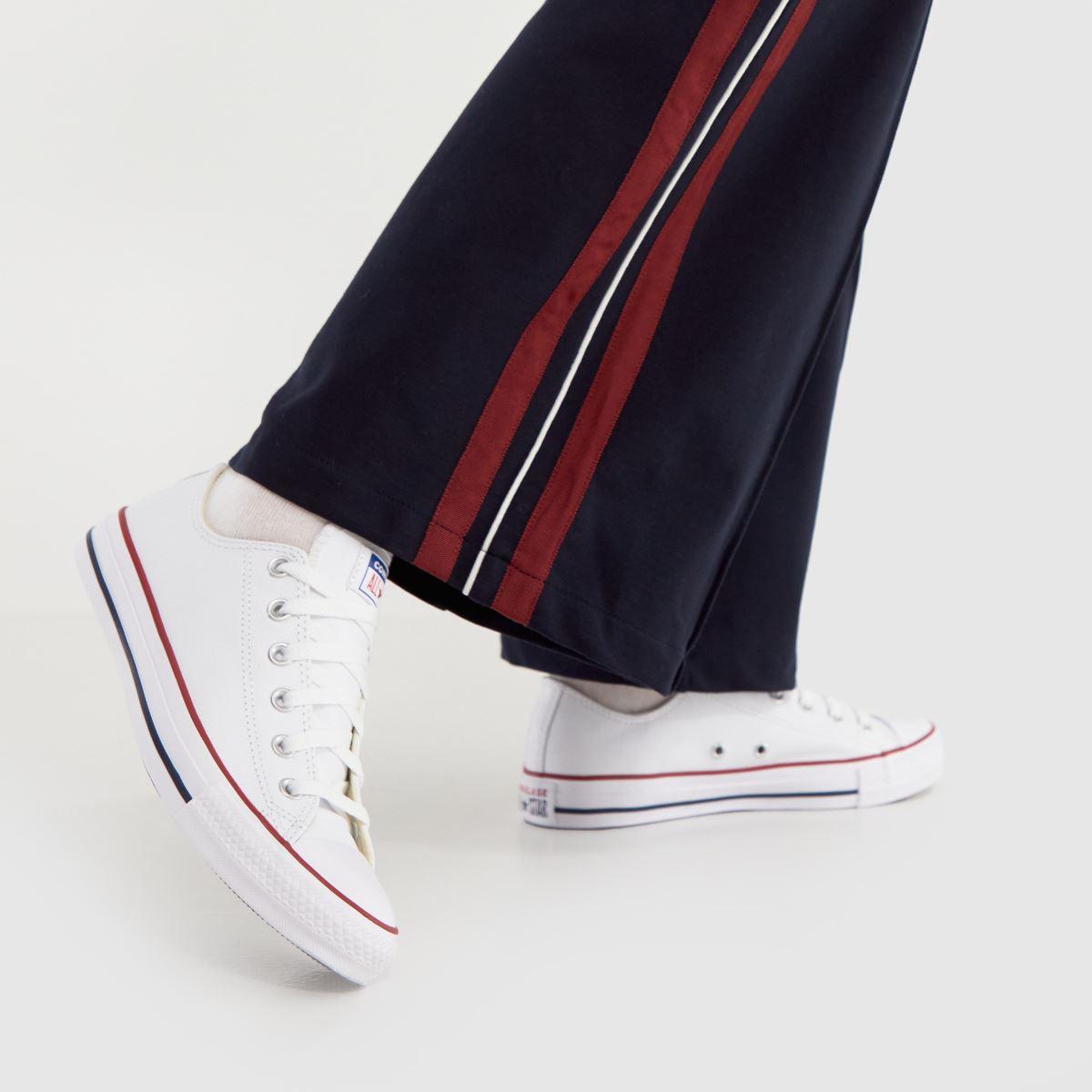 Damen Weiß converse All Star Oxford Leather Sneaker | schuh Gute Qualität beliebte Schuhe