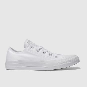 c831ae325061 Converse White All Star Oxford Mono Womens Trainers