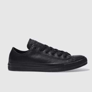 Converse Black All Star Ox V Mono Womens Trainers#