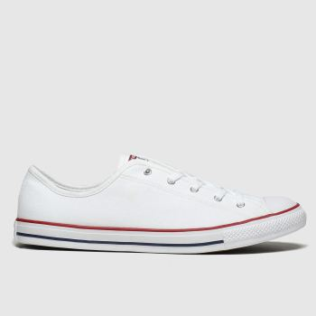 Converse White All Star Dainty Gs Ox Womens Trainers