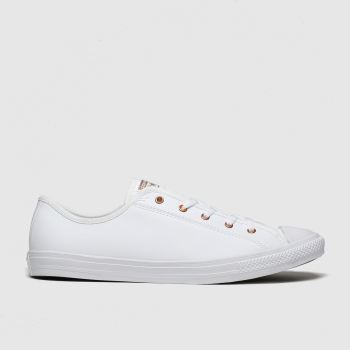 Converse White & Gold All Star Dainty Gs Ox Womens Trainers