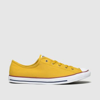 Converse Yellow All Star Dainty Gs Ox c2namevalue::Womens Trainers
