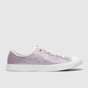 converse pink all star dainty gs ox trainers