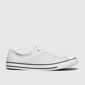 Converse Light Grey All Star Dainty Gs Ox Womens Trainers
