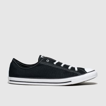 Converse Black & White All Star Dainty Gs Ox Womens Trainers