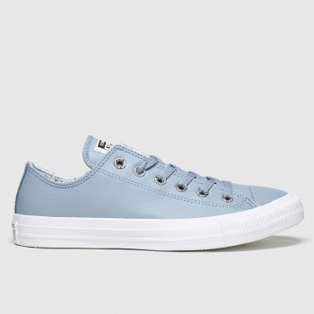 Converse Pale Blue Precious Metals Ox Womens Trainers