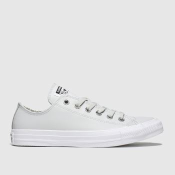 Converse Light Grey Precious Metals Ox Trainers