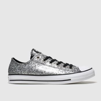 Converse Black & Silver Chunky Glitter Ox Womens Trainers