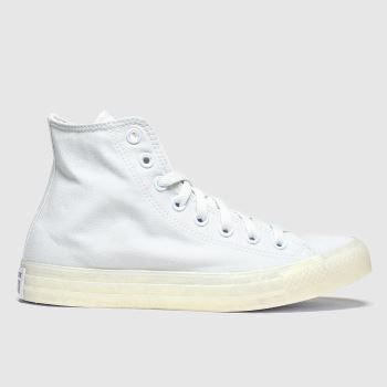 Converse Light Grey Pearlised Hi Trainers