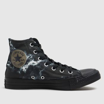 Converse Black & White Marble Hi Womens Trainers