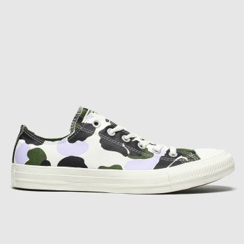 Converse Multi Archive Print Ox Womens Trainers