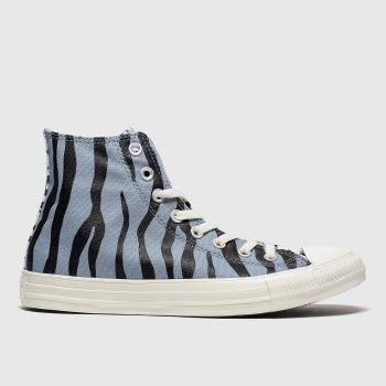 Converse Blue Archive Print Womens Trainers