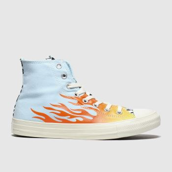 Converse Pale Blue Archive Print Womens Trainers