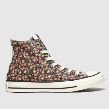 Converse Multi All Star Sunblocked Floral Hi Trainers