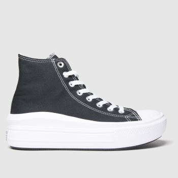Converse Black & White Move Platform Hi Womens Trainers