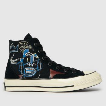 Converse Black & Brown Basquiat Chuck 70 Hi Womens Trainers