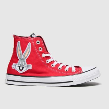 Converse Red Hi Bugs 80th Womens Trainers