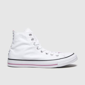 Converse White & Black All Star Hi Dalmatian c2namevalue::Womens Trainers