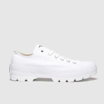 Converse White All Star Lugged Ox Womens Trainers