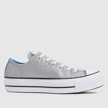 Converse Silver Glitter Lift Ox Womens Trainers