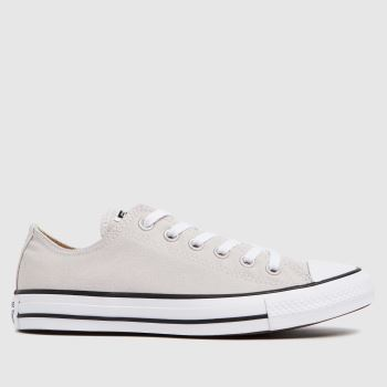 Converse White & Beige Ox Womens Trainers
