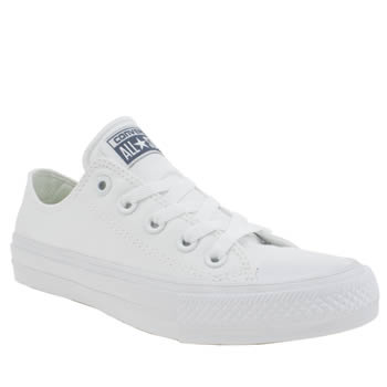 CONVERSE WHITE CHUCK TAYLOR ALL STAR II OX TRAINERS