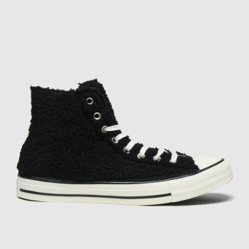 Converse Black & White All Star Cosy Hi Womens Trainers#