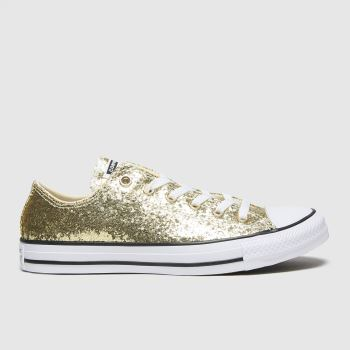 Converse Gold Ox Glitter Womens Trainers