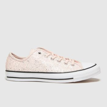 Converse Pale Pink All Star Ox Glitter Womens Trainers