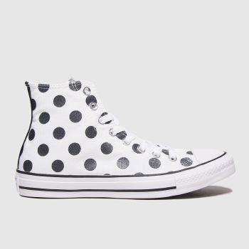 Converse White & Black Hi Womens Trainers