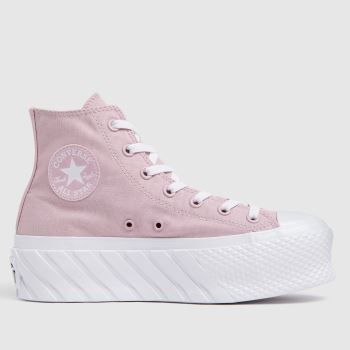 Converse Pale Pink Lift X2 Hi Womens Trainers