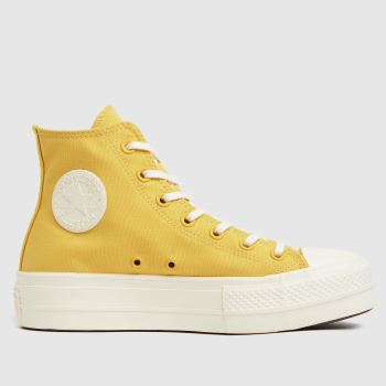 Converse Yellow Mix Recycled Lift Hi Womens Trainers