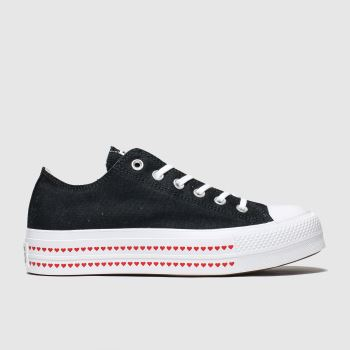 Converse Black & Red Lift Love Fearlessly c2namevalue::Womens Trainers