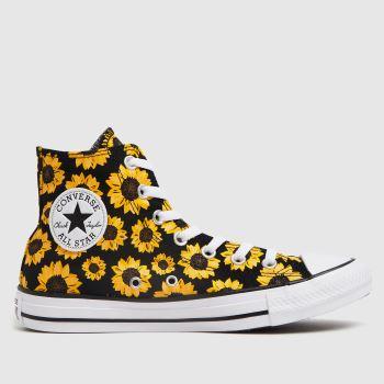 Converse Multi Sunflower Hi Womens Trainers